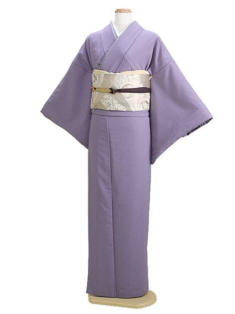 色無地 袷 10月~5月 うす紫色 0091