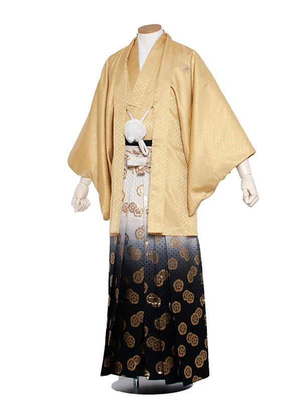 男性用袴 4号からし色縞袴/4K00