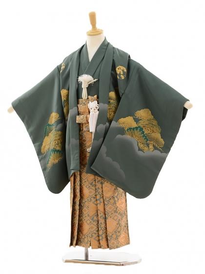 七五三(5歳男袴)A028 花夢二 緑松×グリーンゴ