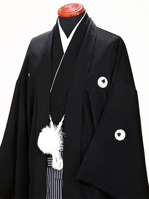 黒 男紋付袴 Mサイズ 成人式・卒業式