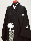 黒刺子 最高級黒紋付 Lサイズ 新郎 結婚式