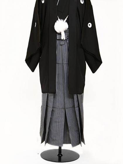 黒 男紋付袴 LLサイズ 成人式・卒業式