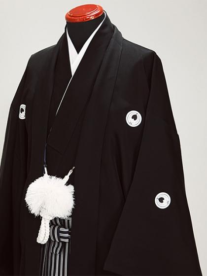 高級黒紋付 4L 正絹 大きい 新郎 結婚式