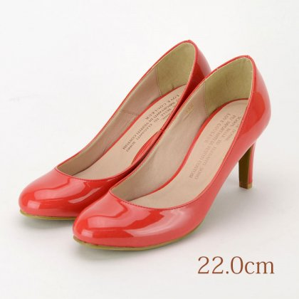 22.0 LOVE COULEUR パンプス レッド 7.5cmヒール