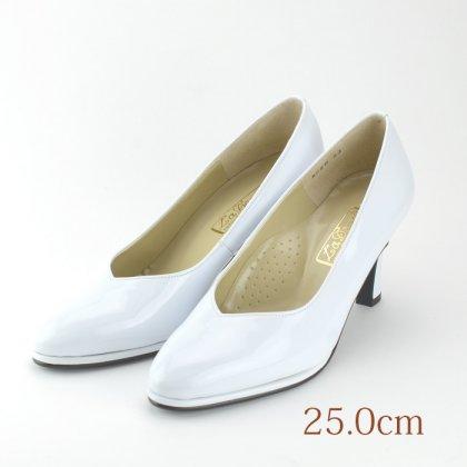 23.0 ウエディングパンプス 7.2cmヒール ホワイト