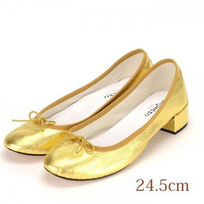 24.5 repetto パンプス ゴールド 3.5cmヒール