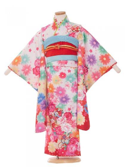 七五三(5女)5003白赤/毬と華花うさぎ