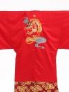 卒業式成人式袴レンタル185赤紋付龍×赤金袴