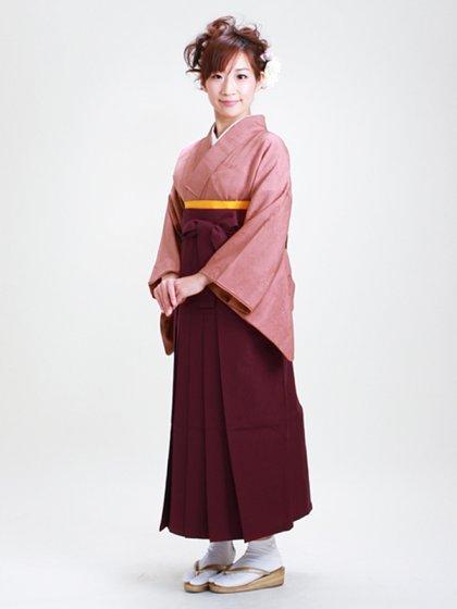 卒業式袴 無地 あずき DD24【身長160cm位】