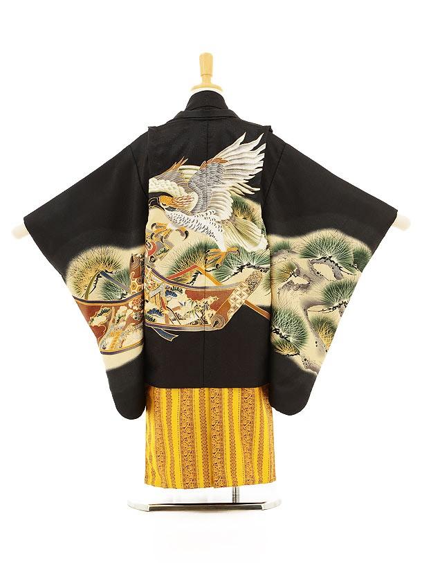 753レンタル(5歳男の子袴)5125黒鷹