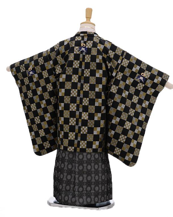 七五三レンタル(5男袴)5107ひさかたろまん格子模