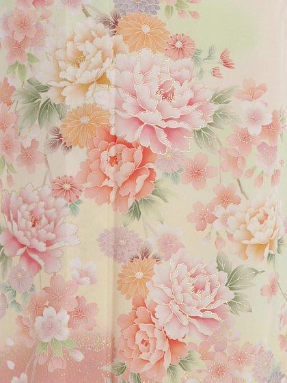 夏訪問着t0087 JAPAN STYLE 薄ピンク地花(化
