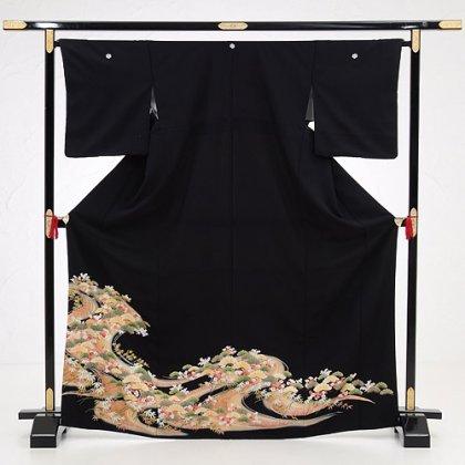 黒留袖5259祝い松竹梅