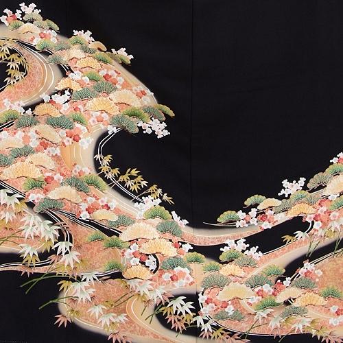 黒留袖レンタル5259祝い松竹梅