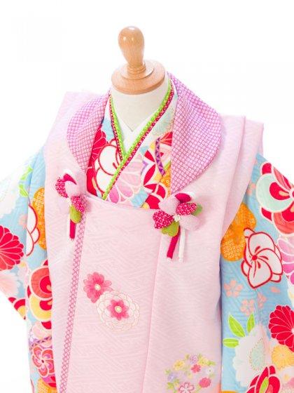 七五三(3歳女)H338B 式部浪漫 ピンク×水色