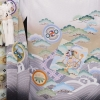 753七五三(5歳男)5845白 飛翔鷹松波/菱紋