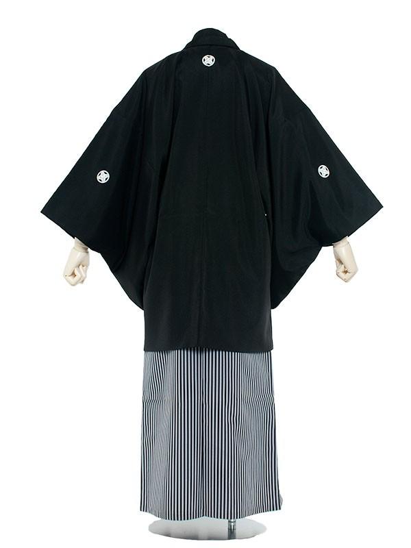 男性用袴 紋服8号定番黒紋付/8000