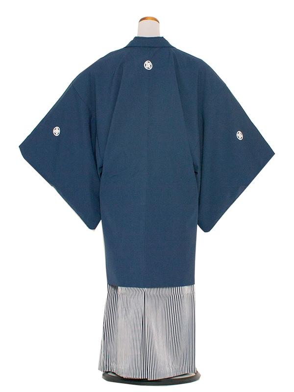 男性用袴 8号紺色縞袴/8N10
