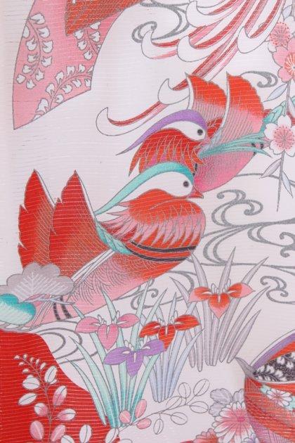 女児産着83(絽)赤に手まり菊