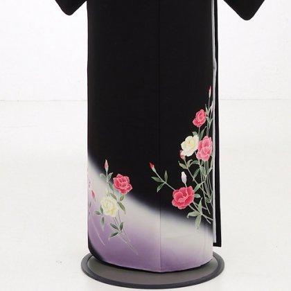 黒留袖4312カーネーション紫