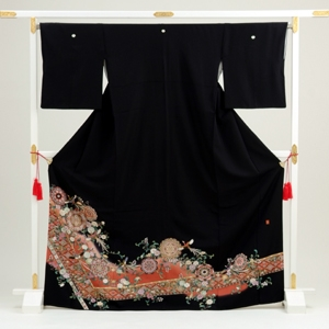 黒留袖レンタル4239典雅の舞