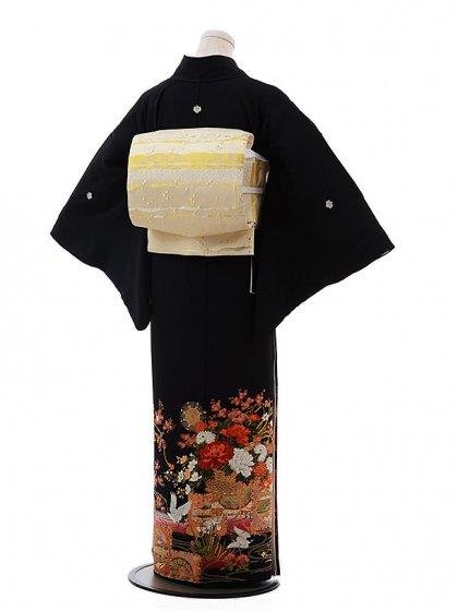 黒留袖レンタル4336寛斎花車2