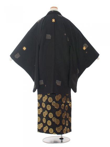 ジュニア(13男)jr1357 黒/グリーン袴80