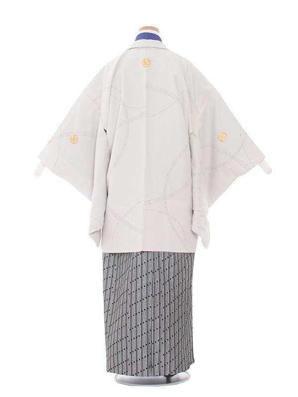 小学生卒業式袴男児1415 ベージュ/紺