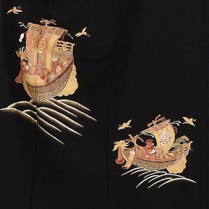黒留袖レンタル6052宝船