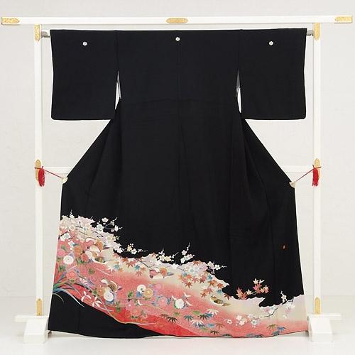黒留袖レンタル2087薄紅おしろい