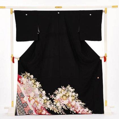 黒留袖レンタル2097桂由美バラ金彩かのこ