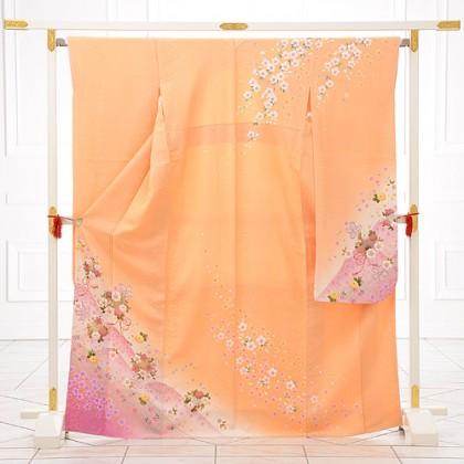 振袖811/オレンジ/かわいい