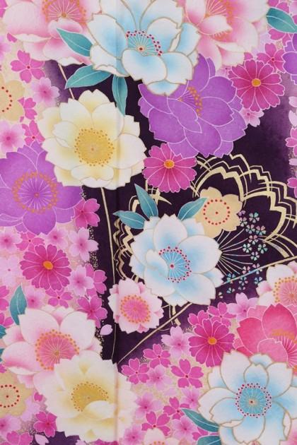 振袖716/紫/かわいい/成人式等