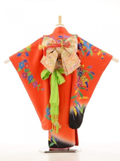 753レンタル(7歳女)7125オレンジ黒蝶ゆり