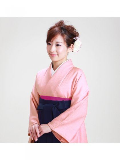 卒業式袴 正絹 ピンク 65【身長155cm位】