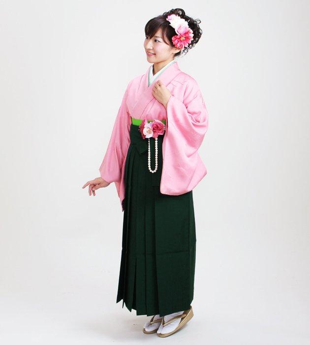 卒業式袴 正絹 ピンク 58【身長150cm位】