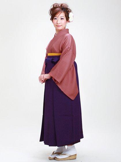 卒業式袴 正絹 レンガ 80【身長160cm位】