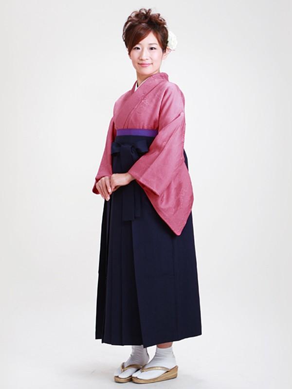 卒業式袴 正絹 濃ピンク 60【身長150cm位】