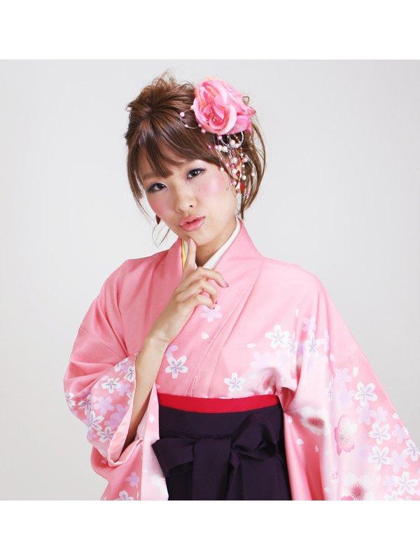 卒業式袴 ピンク 桜 0274【身長155cm位】