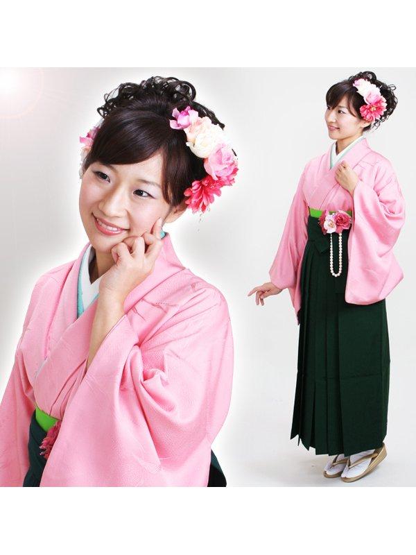 卒業式袴 正絹 ピンク 58【身長155cm位】