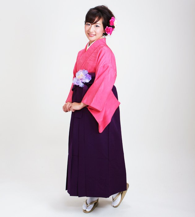 卒業式袴 正絹 ピンク 32【身長150cm位】