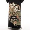 夏黒留袖th015牡丹花車〔単衣〕