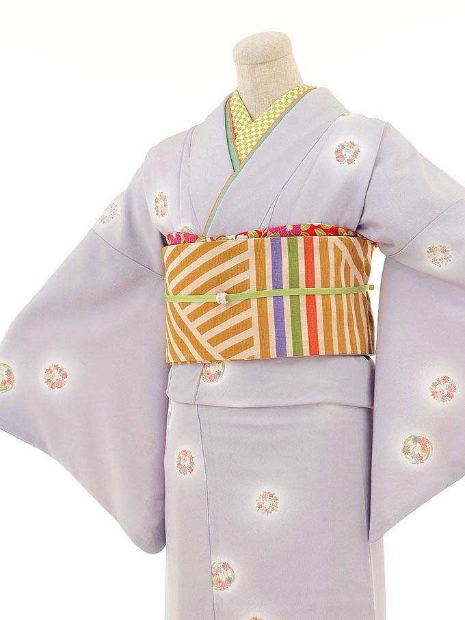 【コーデ】小紋0008 薄紫 小花