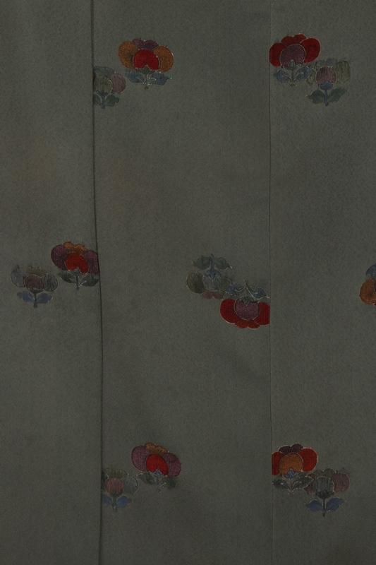 小紋33うぐいす色に橘紋