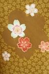 女性袴573/からし色に桜