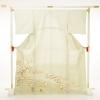 色留袖レンタル674薄黄緑色菊