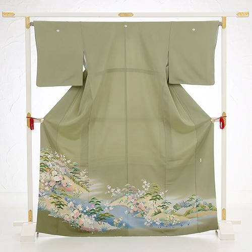 色留袖レンタル567柳茶