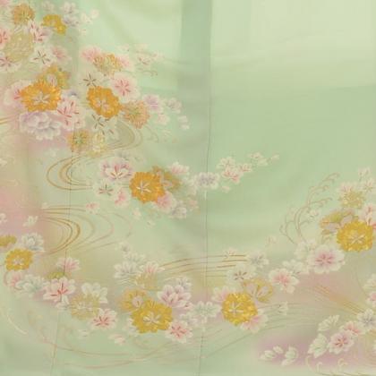 色留袖レンタル691裏葉色 花流水