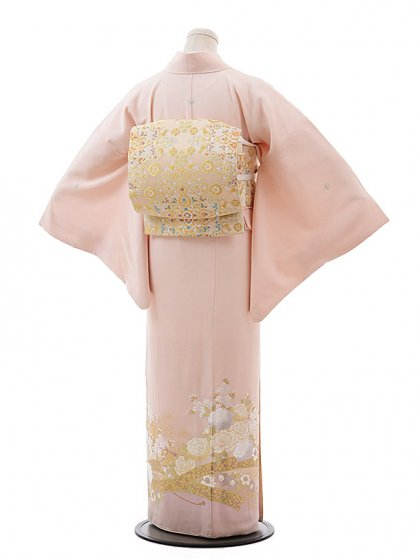 色留袖レンタル638桂由美ピンクバラ