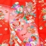 女児産着5n91絽-夏用 ピンク 御所車